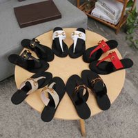 Leather Thong Sandals Metal Chain Flip Flops Slippers Women ...