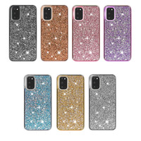 Bling Diamantrhinestone 2in1 PC + TPU Glitter Telefon-Kasten für iPhone 8 11 11 Pro Xr Xs MAX für Samsung note10 S20 Ultra-Note 20 Note20 ultra