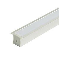 Поверхностный монтаж корпус из светодиодного алюминиевого профиля и экструзия профиля типа T с ПК молочная крышка для потолочного или встраиваемого настенного светильника