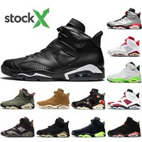Nike AIR Jordan 6 2020 Travis oliva 6 Mens Basketball Shoes 6s Reflect argento Jumpman Cactus Jack gatto nero oreo chaussures Designer Sneakers formatori 40-47