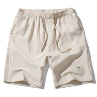 Hot Fashion Men Short Pants Summer Linen Men Shorts Asian Size Leisure Design Men's Shorts New Fitness