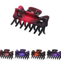12 pcs / pack 4 centímetros Pequeno Garra braçadeira 7 Dentes Cabelo Clip Grampos Mulheres Acessórios de estilo de cabelo transporte da gota