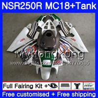 Corps pour HONDA NSR 250 R MC18 PGM2 NSR 250R NS250 NSR250R 88 89 capot blanc chaud 262HM.1 MC16 NSR250 R RR NSR250RR 1988 1989 88 89 Carénage