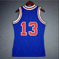 Benutzerdefinierte Männer Jugend Frauen Jahrgang Wilt Chamberlain Mitchell Ness 66 67 College Basketball-Jersey-Größe S-4XL oder benutzerdefinierten beliebigen Namen oder Nummer Jersey