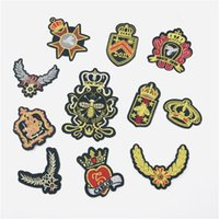 golden wings patch patches gold bee patch script embroidered...