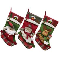 High quality Christmas stocking gift bags large size Xmas tr...