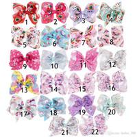 22 Design Girls Unicorno Capelli Archi Big Paint Love Jojo Ombre Arcobaleno Bowknot Forcelle Copricapo Accessori Bobbles Kka4559