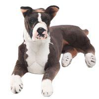 Dorimytrader pop animal realista Boxer cão de pelúcia Toy grande recheado cães simulação boneca presente para as crianças 31inch DY61895 80 centímetros