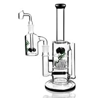 tube Bang Big Water verre tube droit avec cendrier Accessoires pour Fumer épais recycleur Pipes plate-forme pétrolière avec 18mm Bowl