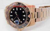 Mens Super BP Factory Лучшее качество ETA 40 мм GMT Batman Керамическая 18K Gold Cal.2813 Движение Автоматические мужские часы часов