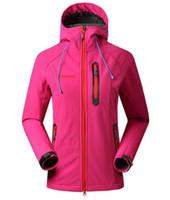 Moda- Softshell Jacket Women Marca impermeabile Rain Coat Outdoor Escursioni Abbigliamento femminile antivento Soft Shell Fleece Giacche