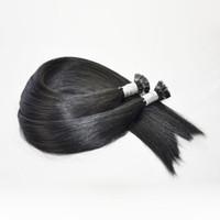 Épais pré-collés dans les extensions de cheveux Kératine pointe plat cheveux humains 300g 300Strands 16 18 20 22 24inch produits capillaires indiens noirs, Free DHL