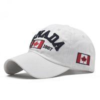 2020 Cotton Gorras Canada Berretto da baseball bandiera del Canada Hat Snapback Adjustable Mens Baseball Caps cappello di Snapback