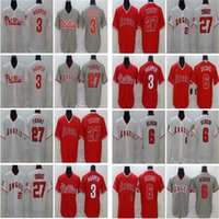 2020 new Mens 3 Bryce Harper Baseball Jersey 27 Mike Trout 1...