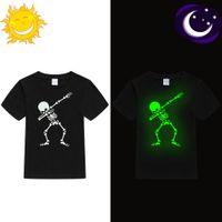 Lueur dans les ténèbres tamponner le crâne Cool T Shirt pour les garçons garçons filles d'été T-shirt pour enfants Hip Hop Rock Tshirt Toddler Baby Top Tee