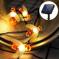 Neue Explosion Solar Light String 30LED im Freien Kreative Honigbiene LED-String-Licht wasserdicht Landschaftsgarten-Dekoration Lampe
