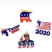 4 قطع / مجموعة دونالد ترامب 2020 أعلام ملصق لافتة للرئيس USA الانتخابات الوجه لوازم شحن مجاني