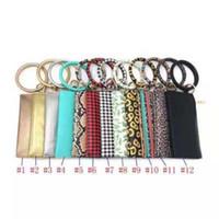 Pu cuir d'embrayage de bracelet de bracelet de bracelet de bracelet monogrammé rouge et blanc Buffalo Bracelet à carreaux Porte-clés Porte-clés ZZA1501-3