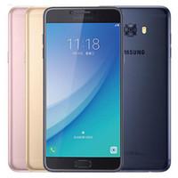 Восстановленный Оригинального Samsung Galaxy C7 Pro C7010 Dual SIM 5,7 дюйма окт сердечник 4 Гб оперативной памяти 64 Гб ROM 16MP 3300mAh 4G LTE смартфон Свободного DHL 10шт