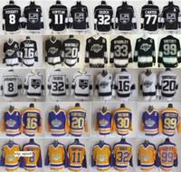 Los Angeles LA Kings Formalar Hokeyi 16 Marcel Dionne 99 Wayne Gretzky 30 Sezonu Vachon 32 Kelly Hrudey 11 Anze Kopitar Forması