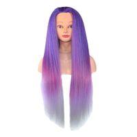 23-Zoll-synthetische Friseur-Mannequin-Trainings-Kopf-Kosmetik-Styling-Manikin-Puppenkopf mit Schulter