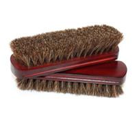 أداة تنظيف فرشاة الشعر الخشن الطبيعية حصان الشعر تلميع الأحذية الجلدية البولندية التلميع خشبي لينة الحيوانات الأليفة الغبار منزل كبير