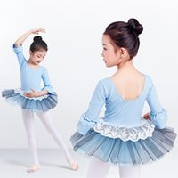 Girls Ballet tutu dress, 3 4 long sleeve ballet tutu dress