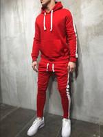 Sudadera con capucha para hombre Traje deportivo informal Color sólido Simple Hombre 3XL Ropa deportiva Chándal Traje de 2 piezas Ropa para correr