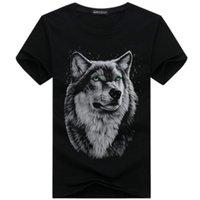 Summer Mens Tshirts Fashion 2020 New Shorts Sleeve T-shirts Mens Plus Size Casual Crew Neck 3D Print Wolf Head Tees Tops Mens Clothing New