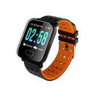 Slimy A6 Smart Watch con cardiofrequenzimetro Tracker fitness Blood Pressure Smartwatch impermeabile per Android IOS PK Q8 V6 S9