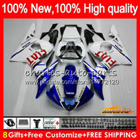 Kit de corps pour Yamaha YZF600 Blanc Blanc YZF 600 R 6 600CC YZF R6 03-05 59HC.16 YZF-R6 YZF-600 YZFR6 03 04 05 2003 2004 2004 2004 Catériel + 8GIFTS