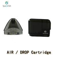 100% Otantik Suorin Damlası Kartuş Pods Suorin Hava Doldurulabilir Pod Değiştirmeler Bobin Kafası Damla ve Hava Kiti için MTL Vaping Boş Bakım