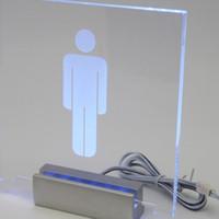 Pince lumineuse de signe de LED de Pantented LED en aluminium argentée longue de 12cm, signes lumineux pour la pince acrylique en verre pour la publicité
