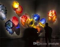 Настенные светильники оптом ручной вручную плит современные абстрактные муранские стекло искусства для домашнего отеля декоративный