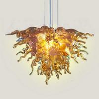 Pequeño precio barato Lámpara de lámpara de araña Luces de la sala de estar Luces de arte moderno Decoración de arte Dale Chihuly Style Chandeliers