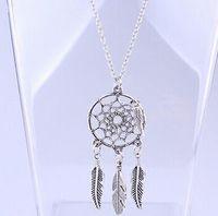 JRL мода горячая кулон ожерелья 4 стили сплав Ловец снов девушка Ожерелье для женщин заявление ожерелье ювелирные изделия Ловец снов
