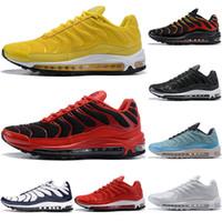 2019 New Nike Air Max Tn 97 Cushions Chaussures hommes triple blanc-noir-rouge-bleu-top-grade-Oreo-Silver-Jogging-designer-baskets-chaussures-36-46