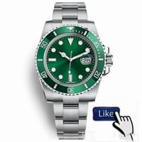 2021 럭셔리 시계 OROGOLOGIO 디 LUSSO 잠금 걸쇠 스트랩 망 자동 글라이드 부드러운 시계 녹색 116610 904L 스테인레스 스틸 방수 손목 시계