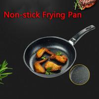Антипригарное Сковорода Железный Пан Стейк Сковорода черный коричневый сгущает кастрюля большой вместимости Прочный Kitchen Tool 8 Размеры VT0244