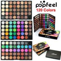 Popfeel 120 цветов палитра теней для век макияж красота 3 слоя ню матовый мерцание тени для век набор природных дымчатый палитра теней для век косметика