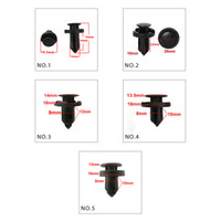 clips for car HARBLL 50PCS 5 Models Black Universal Automobi...
