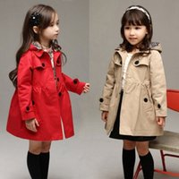 Newborn Infant Kid Baby Girl Long Trench Kids Hooded Popular...