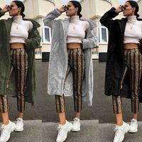 2019 nouvelles femmes Réchauffez Manteau col de fourrure Veste à capuche Slim Parka d'hiver Outwear Solid Color Manteaux Casual