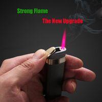 Nouveaux HONNÊTES gonflable Jet briquet torche coupe-vent droite flamme rouge Briquets pour barbecue Cigar Accessoires fumeurs