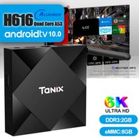 TX6S Android 10.0 Smart TV Box Allwinner H616 Quad Core 2GB 8GB 2.4G WiFi 100M 6k Streaming Media Player