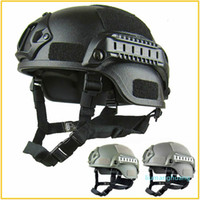 Qualidade Leve Capacete Rápido Airsoft MH Capacete Tático Ao Ar Livre Painel Tático CS Swat Riding Protect Equipment FC01