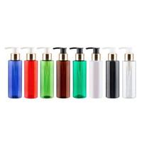 샴푸 샤워 젤 바디 로션 리필 플라스틱 용기 스킨 케어 도구 40PCS를위한 120ML 골드 알루미늄 로션 펌프 병
