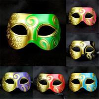 Bunte Art und Weise Männer Prinz Jazz Masken Maskerade Plastikschablone Halloween-Kürbis-Festival Weihnachten Cosplay Zubehör Maske