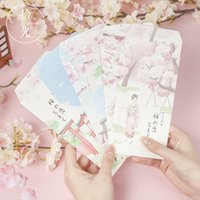120 pcs set Cartoon Cherry blossom cat paper gift window env...