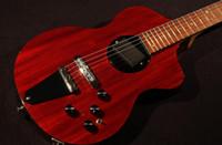 New Rick Turner Model 1 C-LB Lindsey Buckingham Borgogna Brown Semi SEMI Guitar Electric Body Body Body Binding, acero laminato a 5 pezzi